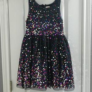 Girl's Cat & Jack Black Sequin Dress 7/8